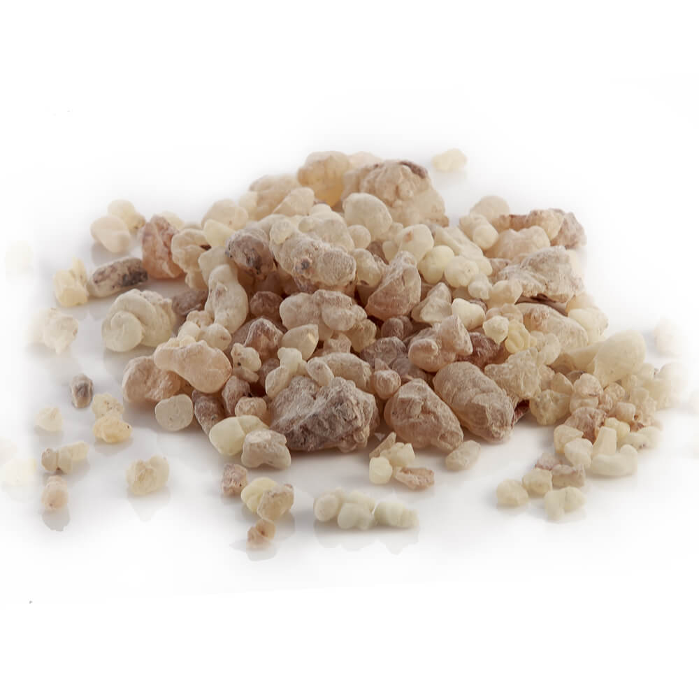 What is frankincense? In its raw form frankincense is an aromatic resin obtained from trees of the Boswelliea genus. The powerful resin is steam-distilled to produce an aromatic essential oil with many benefits, and a powdered form that is regarded to have healing properties. The powder of dried frankincense resin is a common ingredient used in herbal pastes to treat wounds, and the resin can also be burned in order to purify the air and ward off infection
