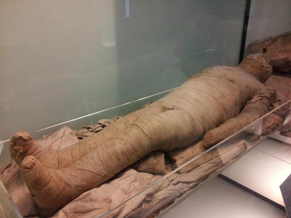 benefits of myrrh. The Ancient Egyptians believed that when a person died they made a journey to the next world. They believed that in order to live in the next world their body had to be preserved. A preserved body is called a mummy.