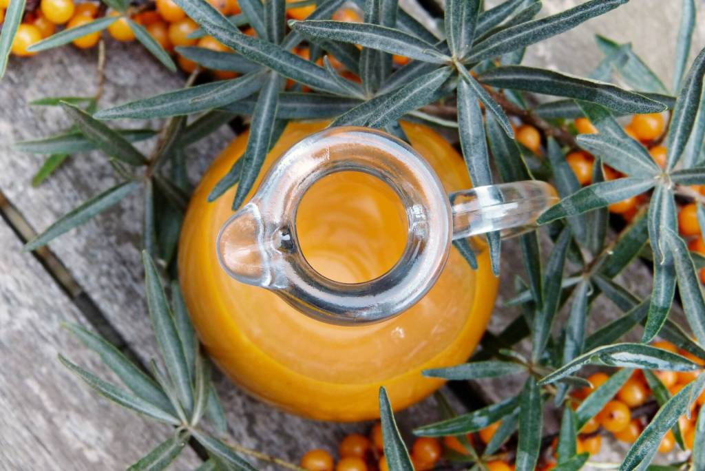 benefits-of-sea-buckthorn- oil In herbal medicine, sea buckthorn has long been used to stimulate the digestive system, enhance heart and liver health, and treat skin disorders. Today, sea buckthorn is touted as a natural remedy for the following health problems: